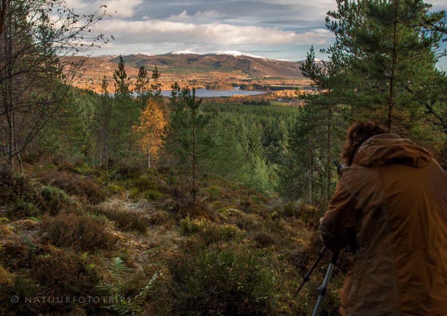 Deelnemer fotoreis Schotland in actie