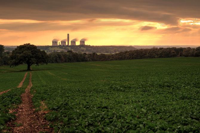 Ratcliffe October Sunset, study 3