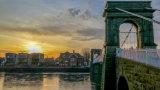 Trent Embankment Suspension Bridge