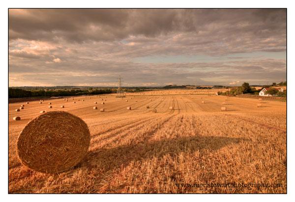 Sunset & Hay Bales