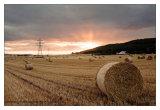 Sunrise & Hay Bales