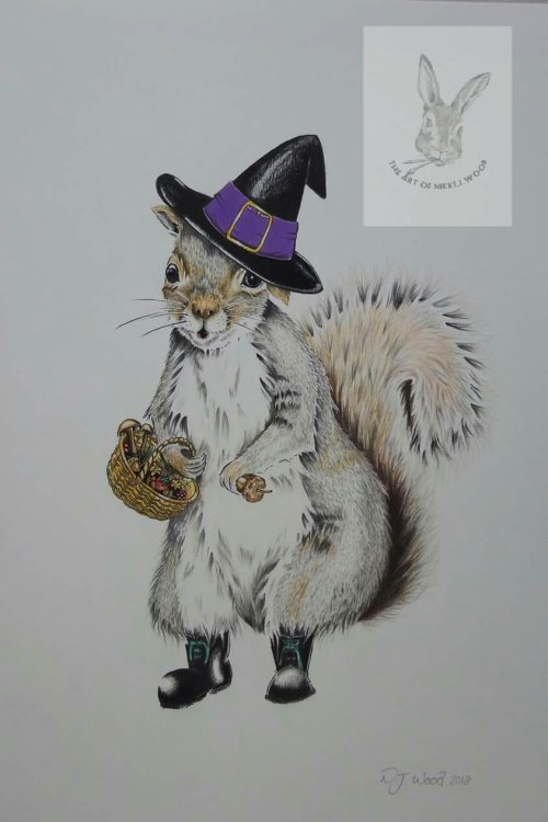 The curious squirrel (commission)