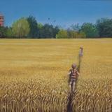 the short cut .pastel on pastelmat 9x12 framed