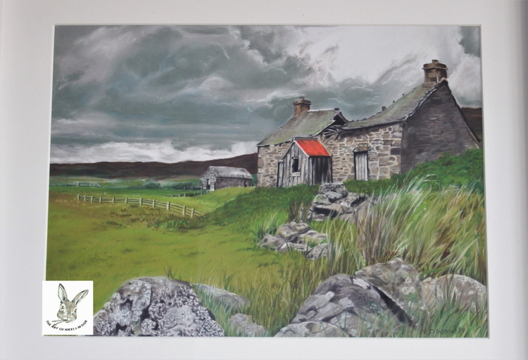 'the old farmhouse' approx 30x37cm