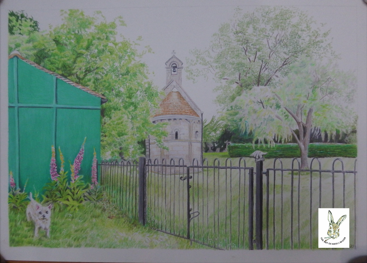 steetly chapel commission A4 coloured pencil