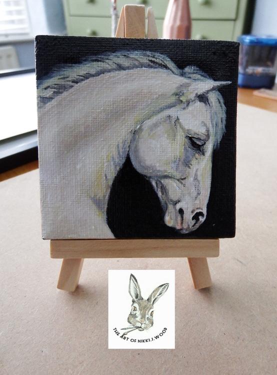 mini canvas acrylic 3x3inch 'silver light '