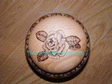 small pot with roses