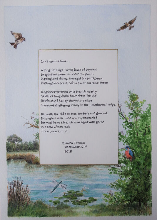'once upon a time'by laura wood  A4 poetry commission illustration