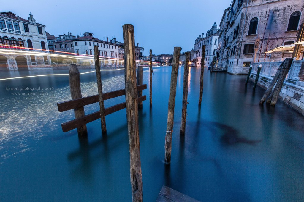 Light Trails on the Grand Canal