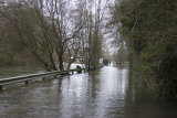 White Swan Pub Mansbridge, flooded