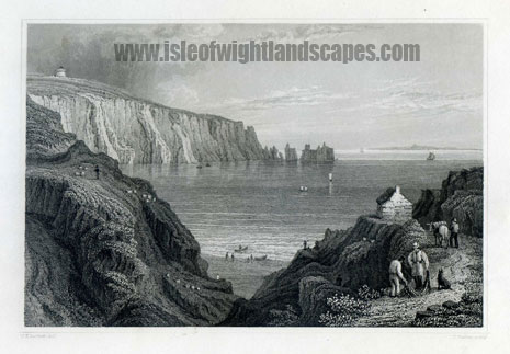 Alum Bay Isle Of Wight. Image size 150mm x 50mm.