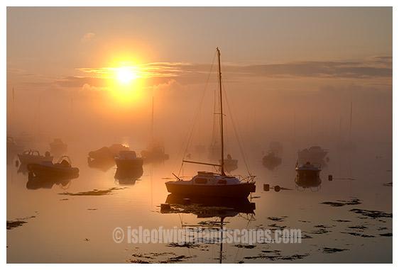 Bembridge Harbour Misty dawn