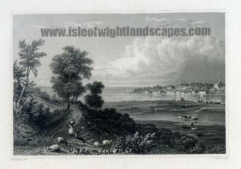 Bembridge Isle Of Wight. Image size 150mm x 50mm.