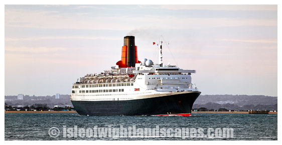 QE2 Off Cowes.