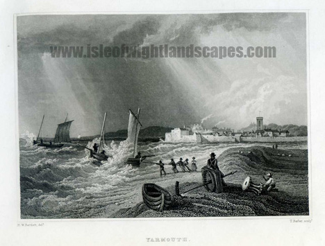 Yarmouth Isle Of Wight.Image size 150mm x 50mm.