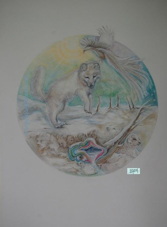 polar fox lamb geode