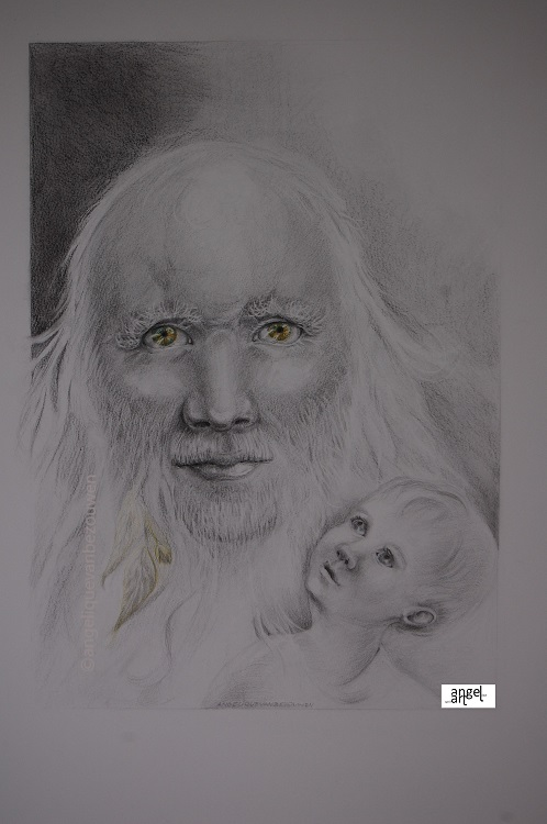 Spirit guide with child