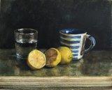 Glass, Mug and Lemons.