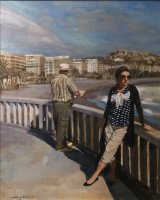 JANE AND STEVE IN ANDALUCIA.       Acrylic