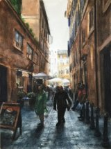 A STREET IN ROME.      Watercolour