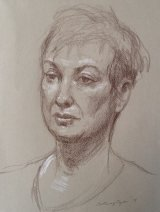 JANE.     Brown pencil and white chalk on tinted paper