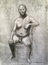 MALE NUDE ON A CHAIR