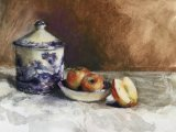 Apples and Spode Crockery