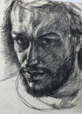 Self-Portrait Aged 24.     Conte
