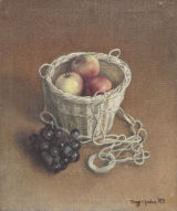 Apples ina Basket with Grapes