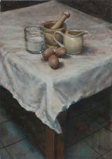 Breakfast Still Life.   FIRST PRIZE WINNER  WEST LANCASHIRE OPEN ART