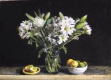 White Flowers with Lemons and Limes