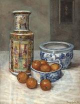 Chinese Vase With Satsumas