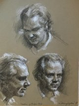 Three Head Studies of Virtuoso Classical Guitarist  ROBIN HILL