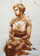 SEATED MODEL 2.   Acrylic