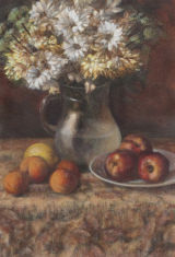 Jug of Chrysanthemum and Fruit