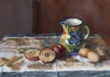 Spanish Vase with Apples and Eggs
