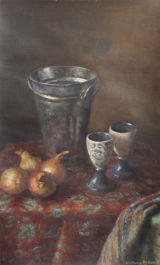 Still Life with Onlions and Goblets
