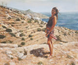 The Girl from Greece (Acylic Canvas, 23.5 x 19.75)