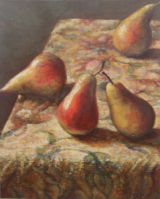 Pears On Tapestry