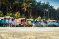 A row of Wells Beach Huts