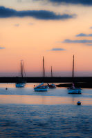 Glow at dusk at Burnham Overy Staithe