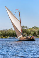 Cream sailed Norfolk Wherry