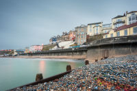 Cromer from the shingle beach