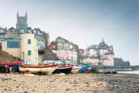 Cromer church and fishing boats