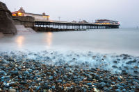 Cromer Pier from the shingle beach