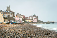 Cromer Church from the shingle beach