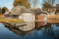 Thatched Boat houses at Hickling