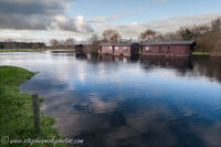 Boathouses at Wayford Bridge 3