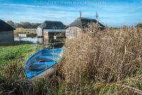 Blue Boat at the boathouses