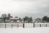 Across the field to Ormesby church